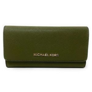 Michael Kors Jet Set Travel Trifold Wallet Green
